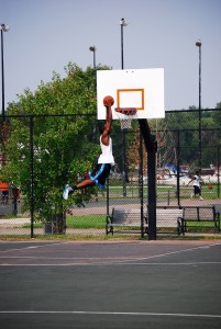 Basketballkorb Outdoor Test